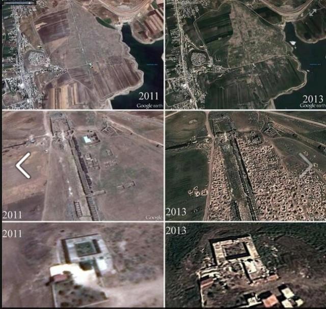 Illegal excavations in Apamia
